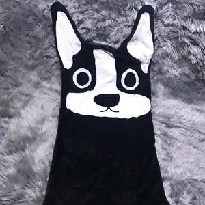 Boston Terrier  ❃ Plush Throw Blanket